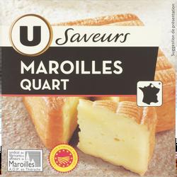 Quart de Maroilles au lait pasteurisé Saveurs U, 26%mg, 200g