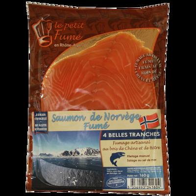 Saumon fumé norvégien 4 tranches, 150g