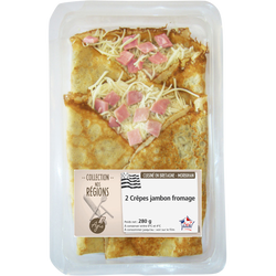 Crêpes jambon fromage, 2 pièces, 280g