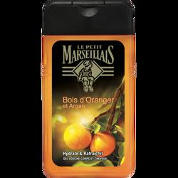 Gel douche pour le corps et les cheveux parfum bois d'oranger et arganLE PETIT MARSEILLAIS, flacon de 250ml