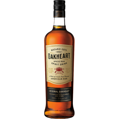Rhum BACARDI OAKHEART, 35°, bouteille de 70cl