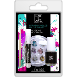 144 Strass pour ongles et colle MISS DEN