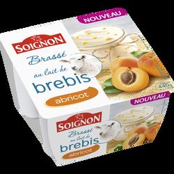 Yaourt brassé au lait entier de brebis sucré à l'abricot SOIGNON, packde 110g