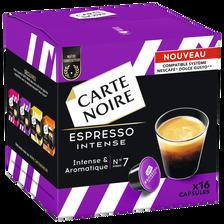 Café espresso intense & arômatique n°7 arabica CARTE NOIRE, paquet de128g