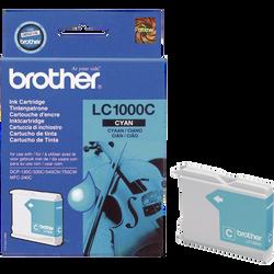 Cartouche d'encre BROTHER pour imprimante, LC1000 cyan, sous blister