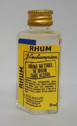 ARÔME NATUREL DE RHUM