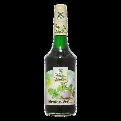 Sirop de menthe MOULIN DE VALDONNE, bouteille en verre de 70cl