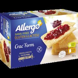 Crac Form' sans gluten et lactose GERBLE, 250g