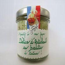 Délice d'artichaut au basilic à tartiner, l'apéritif à ma façon, 100gr, bocal, Lucien Georgelin