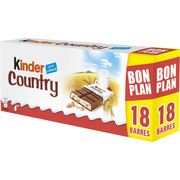 Kinder Barre Chocolat Kinder Country Pack T9x2 Soit 423g