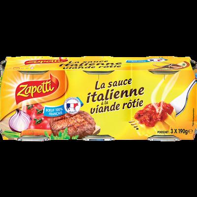 Sauce Italienne à la viande rôtie ZAPETTI, 3x190g