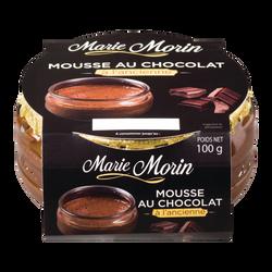 Mousse au chocolat à l'ancienne, MARIE MORIN, pot en verre de 100g