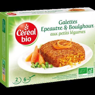 Galettes d'épeautre et boulghour aux petits légumes CEREAL BIO, paquetde 200g