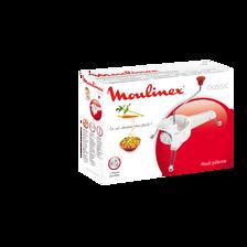 Mouli-julienne en plastique MOULINEX, blanc/rouge, 3 grilles interchangeables, rangement facile
