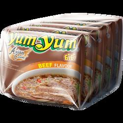 Soupe de nouilles arôme boeuf YUM YUM, 5 sachets de 60g