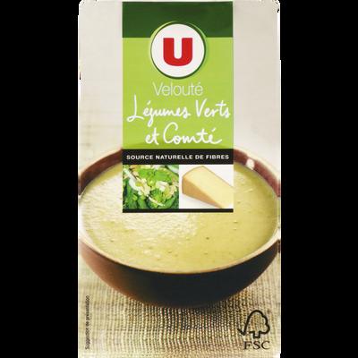 Velouté légumes verts et comté U, brique 1 litre