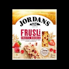 Barres céréales frusli fruits rouges JORDANS, 180g