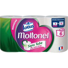 Lotus Papier Toilette Sans Tube Uni Lotus Moltonel, 6 Rouleaux