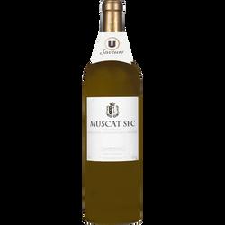 Vin blanc sec IGP pays d'OC Muscat Saveur U, 75cl