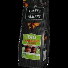Café moulu Amérique Latine bio issu de l'agriculture biologique CAFE ALBERT, 250g