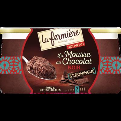 Mousse au chocolat noir origine St Domingue LA FERMIERE, 2x85g