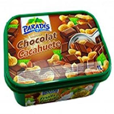 Crème glacée PARADIS 1L, parfum chocolat cacahuete