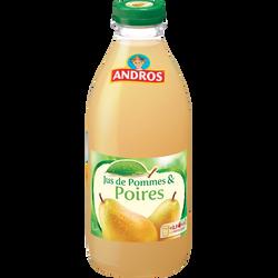 Jus de pommes et poires réfrigéré ANDROS, bouteille de 1l