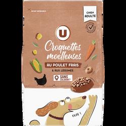 Croquettes moelleuses au poulet frais & légumes pour chien U, 4kg
