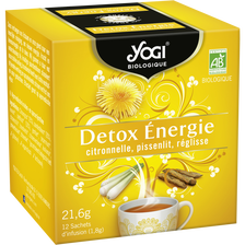 Infusions detox energie Bio YOGI, 12 sachets de 21,6g