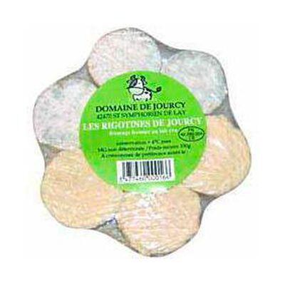 fromages fermiers de vache au lait cru les rigotines du DOMAINE DE JOURCY  200g