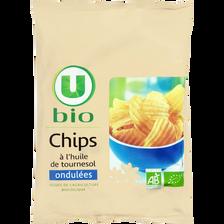 Chips ondulées U BIO, sachet de 125g
