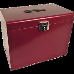 Classeur ménager avec 5 dossiers suspendus 21x29,7cm, 22x36,8x28,7cm,rouge rubis nacré