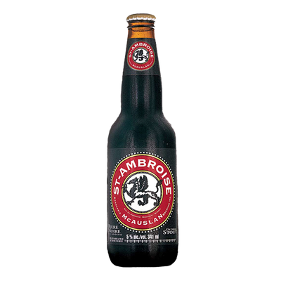 Bière noire ST-AMBROISE 5°, bouteille 341 ml