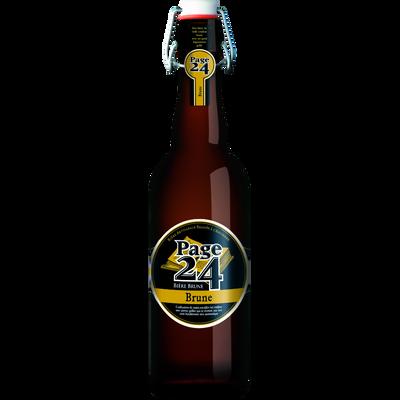 Bière brune 7.9° Page 24, bouteille de 75cl
