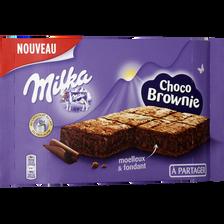 Choco brownie à partager MILKA, paquet de 220g