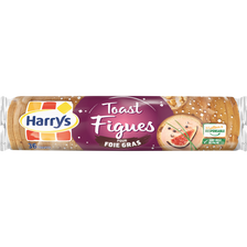 Toasts ronds briochés aux figues spécial foie gras HARRY'S, paquet de2 80g