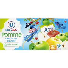 Lou Gourdes Pomme Sans Sucres Ajoutés U Mat & , 20x90g