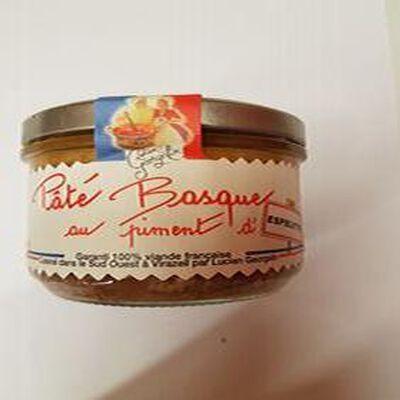 Pâté Basque au piment d'Espelette, 200gr, bocal, Lucien georgelin