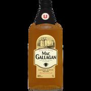 Scotch Blended Scotch Whisky 3 Ans D'âge Mac Gallagan U, 40°, Bouteille De 1l