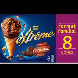 EXTRÊME crème glacée au chocolat, x8 soit 568g