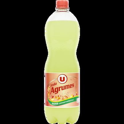 Boisson gazifiée aromatisée agrumes avec sucre et édulcorant 1,5L