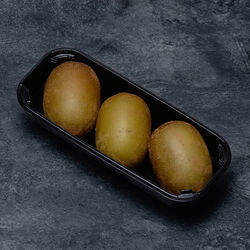 Kiwi sungold, BIO, calibre 42(72/81G), catégorie 2, Italie, barquette3 fruits
