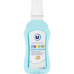 Bain de bouche junior 6 ans et plus parfum menthe U, flacon de 300ml