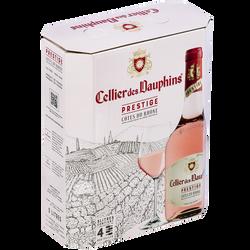 Vin rosé Côtes du Rhône AOP rosé CELLIER DES DAUPHINS prestige, fontaine à vin 3l