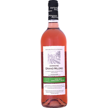 Vin rosé de pays du Gard bio, DOMAINE DU GRAND MILORD, bouteille de 75cl