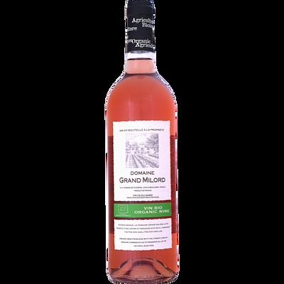 """Vin rosé de pays du Gard bio """"Domaine du Grand Milord"""", bouteille de 75 cl"""