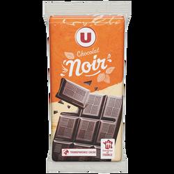 Tablette de chocolat noir supérieur U, 3 unités de 100g