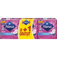 Nana Serviet.ultra Normal+ Deo-fresh , 2 Paquets De 14 + 1 Gratuit