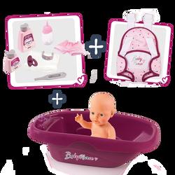 Smoby - Set baignoire Baby Nurse + poupon - Dès 3 ans