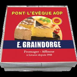 Pont l'Evèque AOP lait pasteurisé  23% de matière grasse E.GRAINDORGE,200g